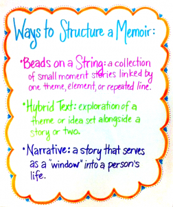 Ways to Structure a Memoir