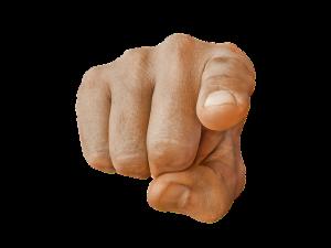 pointing finger, resistance