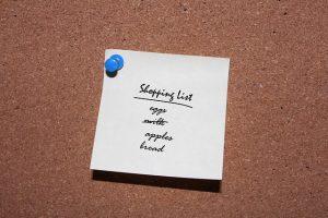 memory, shopping list