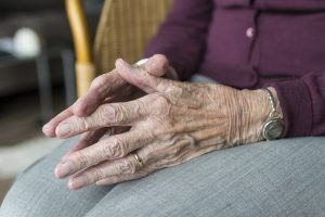 emotional, vulnerable, elderly, hands