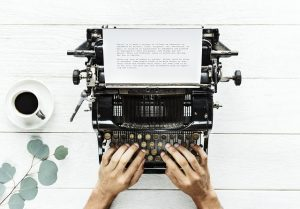 whose story, typewriter